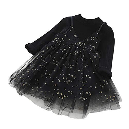 i-uend Mädchen Baby Sommer Mode Kleid niedlichen kleinen frischen langärmeligen Mesh Kleid Schwestern Rock Pettiskirt Kleid Rock ()