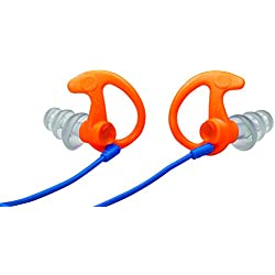 Surefire EP5 Max Sonic Anti-Bruit, Gehörschutz Sonic Max, Transparent - Orange/Blau