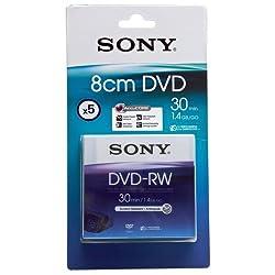 Sony 8cm Dvd-rw 30 Min 4+1 (5 Pack) - Blister
