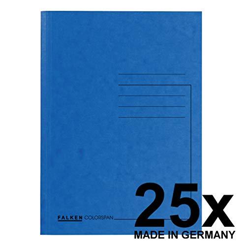 Falken Premium Aktendeckel 25er Pack aus extra starkem Colorspan-Karton für DIN A4 blau Hefter ideal für das Büro und Schule und die mobile Organisation