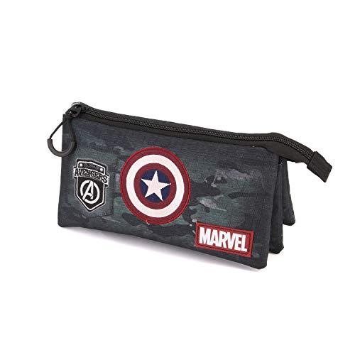 Karactermania Captain America Army-astuccio Portatutto Triplo HS Estuches 24 Centimeters Multicolor (Multicolour)
