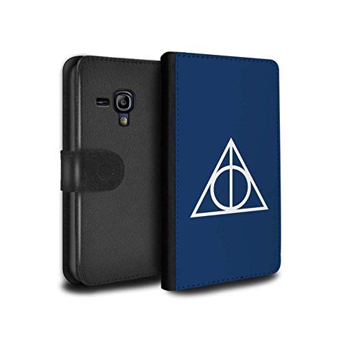 Stuff4® PU-Leder Hülle/Case/Tasche/Cover für Samsung Galaxy S3 Mini/Blau Muster/Heiligtümer Todes Inspiriert Kollektion