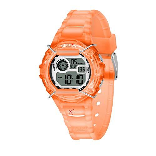 Sector 9 Femmes Digital Montre avec Bracelet en Plastique R3251526002