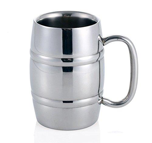Jarra de cerveza, Isenretail acero inoxidable Taza de té/Cerveza/café/latté/la leche, Diseño de...