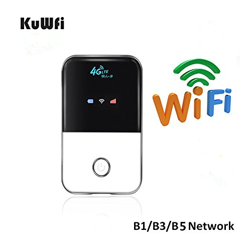 Hotspot Pocket (KuWFi Travel Partner Wireless Pocket 4G WIFI Router 100Mbps USB 4G Modem mit SIM Karte MINI Mobile Hotspot Portable Auto LTE Router)