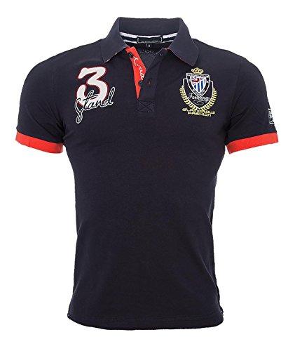 Herren Polo Shirt Kurzarm Sommer Herren Hemd England S-3XL [H-038 Navy Gr. M]