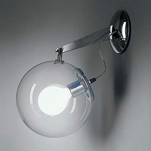 Jffffwi lampada da parete, moderna semplice europea led vetro trasparente camera da letto creativa studio soggiorno bolle di sapone decorazione luce di notte