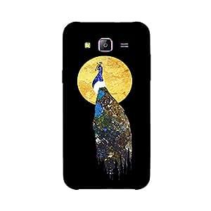 Back cover for Samsung Galaxy E7 Abstract Peacock