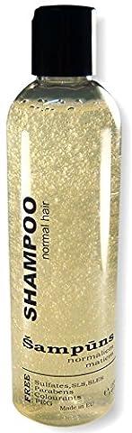 Bio Shampooing pour cheveux normaux avec aloe vera et la vitamine B. huiles essentielles (200ml)–Sulfate gratuit–volumisant et hydratant. pour homme et femme.