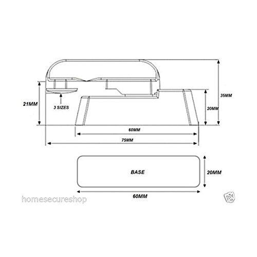 Homesecure Hs4293 Fensterrahmen-verriegelung,Weiß, 10Stück