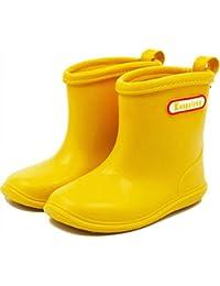 baiyou bebé de goma para niños Botas de lluvia impermeable botas de agua Wellington para 1–6años