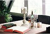 Vintag-Design geschnitzter Kerzenständer, Hochzeit/Party Tischdekoration Kerzenständer, romantisches Abendessen bei Kerzenlicht kreative Kerzenständer (Klein + Groß) - 2