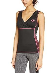 Ultrasport Maillot de fitness antibactérien à séchage rapide Noir noir/rose xs