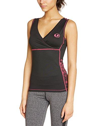 ultrasport-maillot-de-fitness-antibacterien-a-sechage-rapide-noir-noir-rose-xs