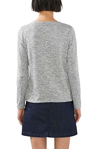 edc by ESPRIT Damen Langarmshirt Grau (medium Grey 5 039)
