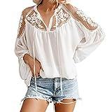 Darringls Camicia Donna Elegante, Maglie Corte Ragazza Casuali Chiffon con Camicie Orlo Irregolare Cime Camicia Donna Elegante Blusa Donna Taglie Forti T-Shirt Tops