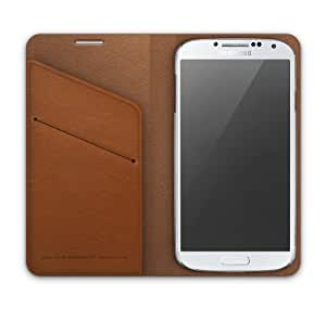 Lab C LABC-436-BW Fantastic 5 Folio Case for Galaxy S4 - Retail Packaging - Brown