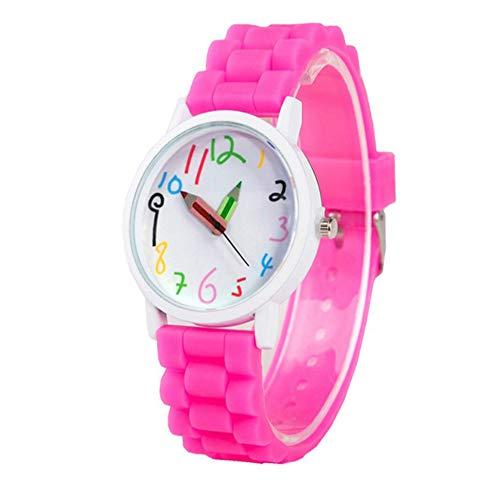 LIYANGEP Rose Smart Digital Studentenuhr Bleistiftzeiger Quarzuhr Uhr Junge Mädchen Uhr Geschenk