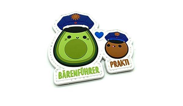 polizeimemesshop Avocado B/ärenf/ührer /& Prakti Rubber Patch