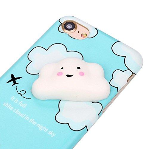 Ouneed® Für iPhone 8 4.7 Zoll Hülle , Squishy 3D Phone Case weiche Silikon Cartoon Plastik für nail finger pinch für Entspannung für iPhone 8 4.7 Zoll (B) B