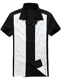 ecedc2ea4d Candow Look Mens Retro Bowling Shirt Online Shirts Vintage Camicie