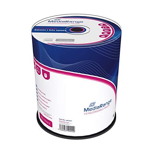 MediaRange CD-R 700Mb|80Min 52x Speed, Cake 100