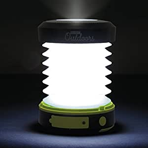 Bright Outdoors Maximum Power LED Solar Lantern and Flashlight with Emergency Powerbank - USB Rechargeable, Collapsible, Great for Camping, Safety, Patio or Travel! (1800 mAh power)