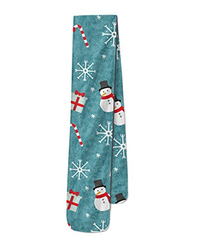 Snowmen and Candy Canes Fleece Scarf - Large Scarf - 15x80 inches Winter Schal