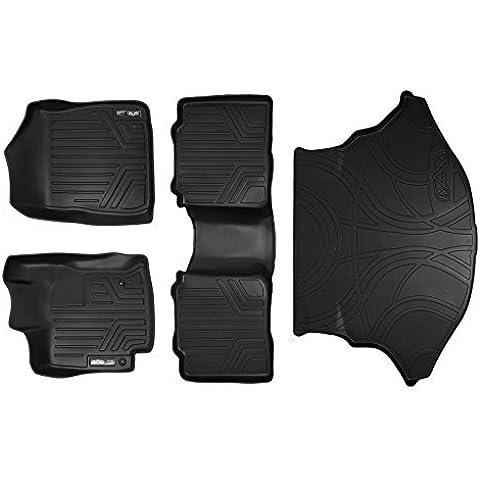 Maxliner MAXFLOORMAT Complete Set Custom Fit All Weather Floor Mats For Select Toyota Venza Models - (Black) by MAXLINER
