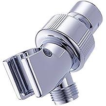 thanly Braccio doccia universale, Deviatore a 3vie con supporto doccia testa staffa di montaggio supporto in cromo lucido A - Riser Braccio