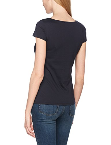 comma Damen T-Shirt Blau (Tinte 5976)