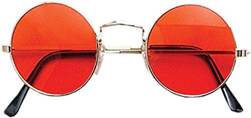 Xmas Party Dress Accessory 70S Hippy Dude Ozzy Osbourne Lennon Glasses Orange