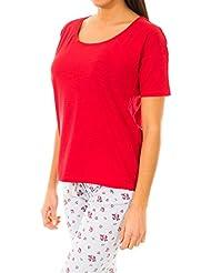 Camiseta Básica Rojo Jaspeado