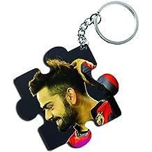 ShopTwiz Virat Kohli (RCB) Wooden Puzzle Key Ring