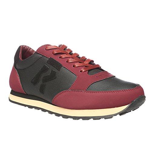 RIFLE Sneakers da uomo, scarpa bassa stringata - Mod. 162-M-318-446 Bordeaux - Nero