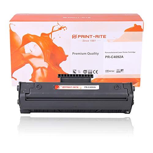 Print-Rite Compatible HP c4092a Negro Cartucho de tóner para Impresora HP Laserjet 1100 1100se 1100xi 1100a 1100a se 1100a XI 3200 3200se Canon lbp-800 lbp-810 lbp-1110 lbp-1120 Impresora