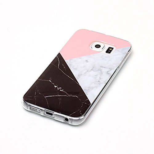 Qiaogle Telefon Case - Weiche TPU Case Silikon Schutzhülle Cover für Apple iPhone 6 / iPhone 6S (4.7 Zoll) - YH41 / No.6 Marmor Landschaft YH48 / Colour13