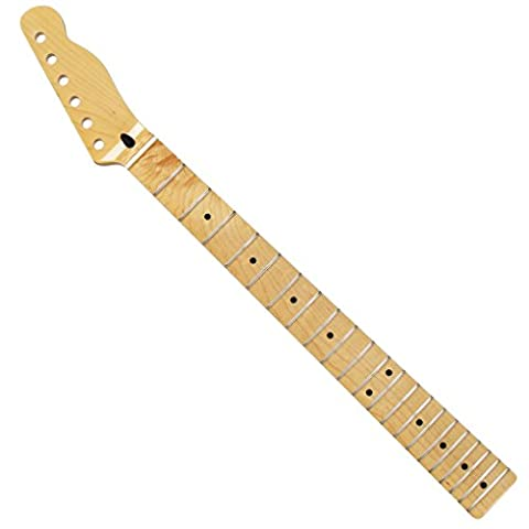 Fleor 21frettes Rayon de 30,5cm Manche de guitare en érable pour guitare électrique Telecaster pièces Replacement-gloss