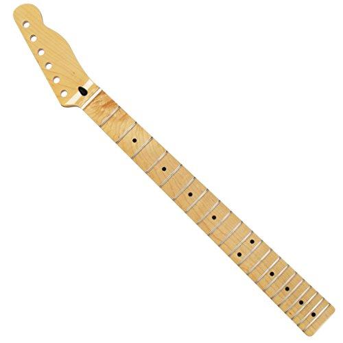 FLEOR Gitarre Hals für elektrische Telecaster Gitarre Teile Ersatz INT-003 (Sattel Ferse)