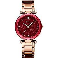 NICEWATCH Ladies Watch, Reloj Coreano, Reloj de Diamantes, Reloj de Cuarzo, Reloj Impermeable de la Estrella, Gules