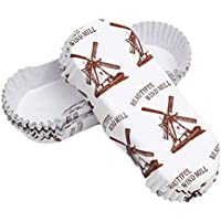 BESTONZON - 300 Vasos de Papel para Cupcakes en Forma de Barco para Magdalenas (Molinillo