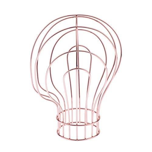 CUTICATE Metall Perückenständer Perückenhalter Ständer Halter Geeignet für Perücke/Mütze/Kopfbedeckung/Schmuck/Sonnenbrille usw. - Rose Gold