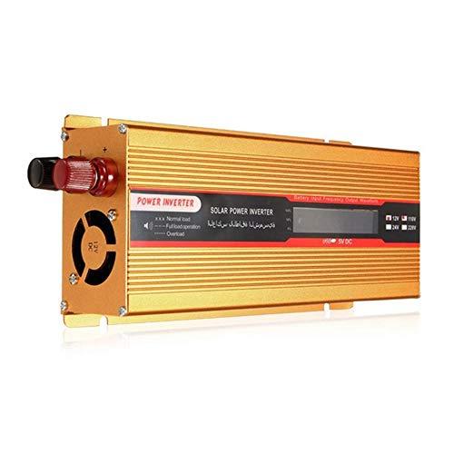 KOBWA 2000W Wechselrichter,DC 12 V auf 220 V AC Spannungswandler Auto Ladegerät Adapter, Modell mit USB Konverter und 3 LCD Display