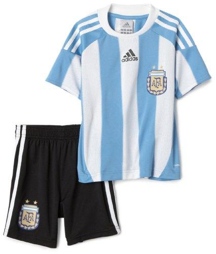 adidas Argentinien Fußball Uniform Mini Kit, Damen Mädchen Jungen Herren, P47059, Colum Blue, 4TOD (Adidas-fußball-uniformen)