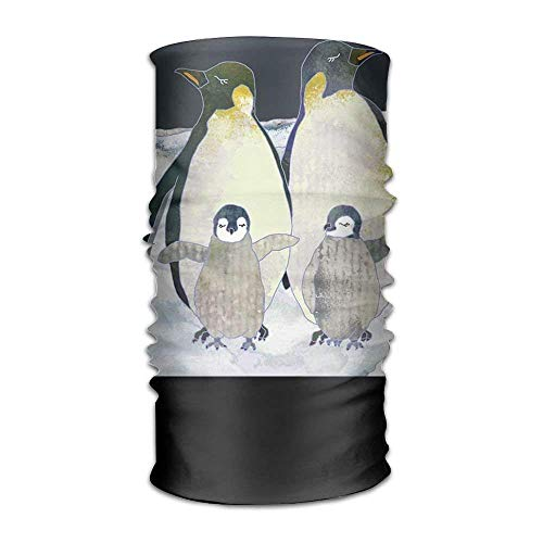 Cute Antarctic Penguin Headwear For Men And Women-Yoga Sports Travel Workout Wide Headbands,Neck Gaiter,Bandana,Helmet Liner,Balaclava,Hair Turban,Scarf