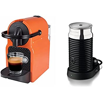 this item nespresso inissia and aeroccino coffee machine summer sun by magimix