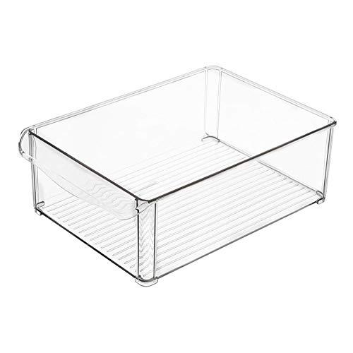 Biback - 2 Cajas Almacenamiento plástico frigoríficos