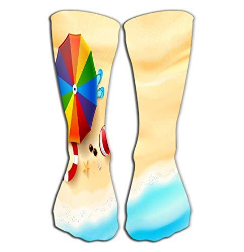 Xunulyn Hohe Socken Print Women's Knee High Socks Athletic Over-The-Calf Tube 19.7