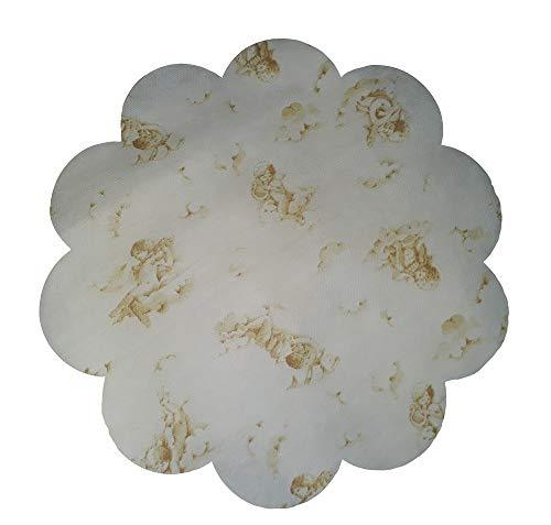 E-xtra diamètre 30 centimètres 10 Sets de Table avec des angelots sur Fond intissé Blanc