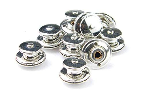 10 x Tenax Oberteil für Metall und Stoff, Edelstahl Schnellverschluss